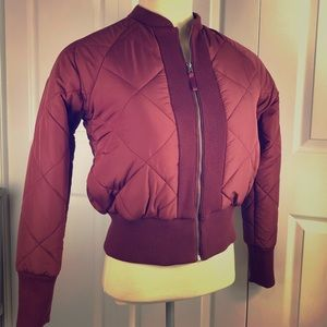 Urban Outfitters Womens Puffer Jacket Burgundy L